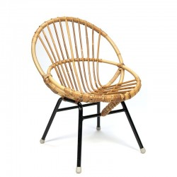 Vintage chair for children rattan