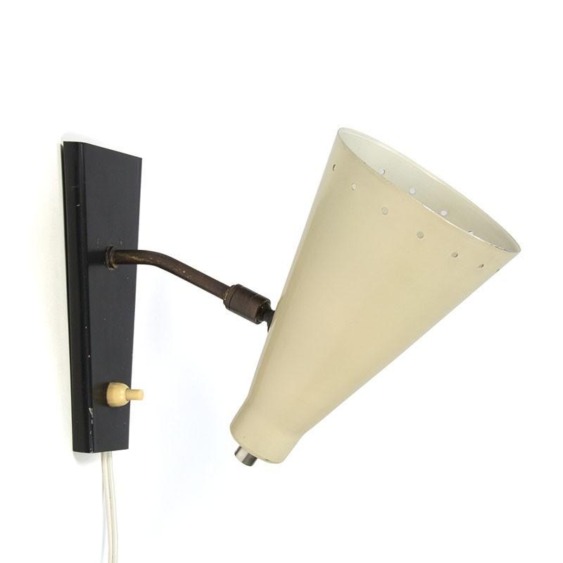 Vintage wandlamp jaren vijftig