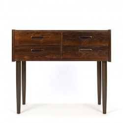 Small Danish vintage rosewood chest of drawers