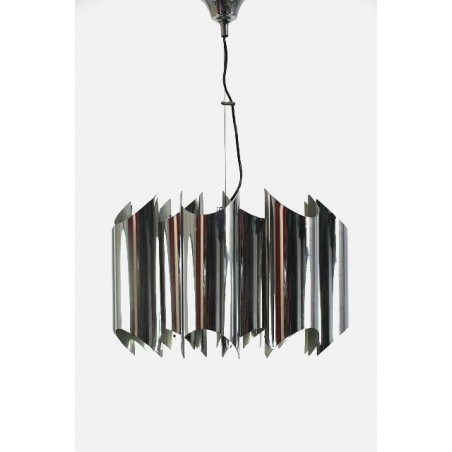 Chrome Italian vintage design hanging lamp