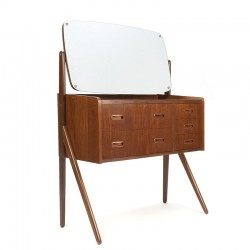 Danish dressing table with glass top
