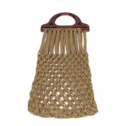 Vintage tas van gevlochten touw