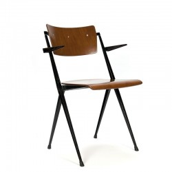 Vintage Pyramide stoel ontwerp Wim Rietveld