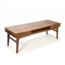 Danish teak vintage coffee table with drawers