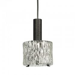 Kleine vintage hanglamp met dik glas