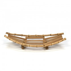 Vintage bamboe fruitschaal