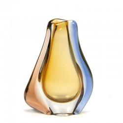 Vintage decoratieve Sommerso glazen vaas