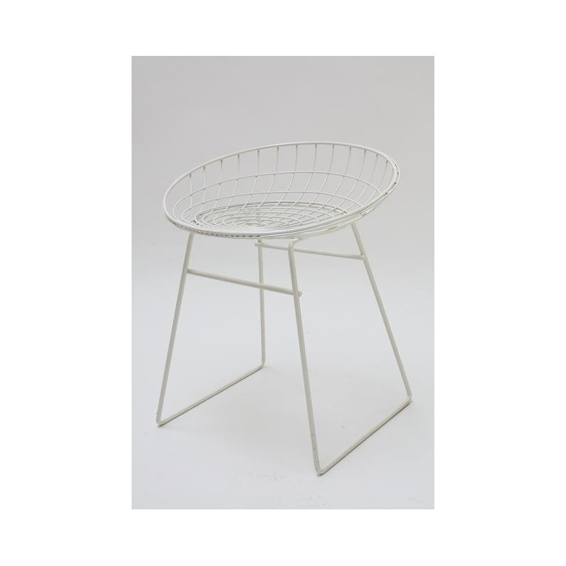 Cees Braakman wire stool white