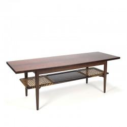 Deense vintage palissander houten salontafel