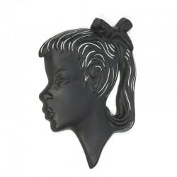 Vintage aardewerken silhouette