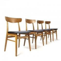 Deense vintage set van 4 Farstrup stoelen