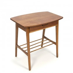 Danish vintage side table with small drawer