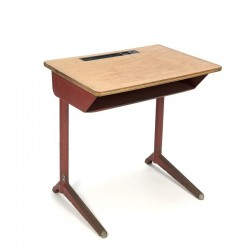 Vintage industrial children's desk from the 1950s