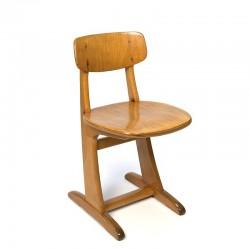 Vintage houten Casala kinder schoolstoel