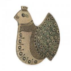 Vintage duif van aardewerk