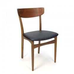 Deense vintage eettafel stoel teak/ eiken