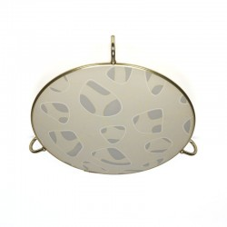 Vintage ceiling lamp with brass details