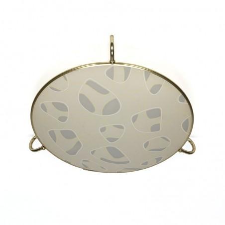 Vintage plafondlamp met messing details
