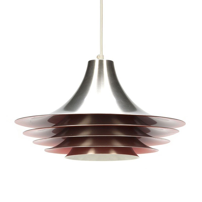 Hanging Lamp Nl: Vintage Scandinavian Aluminum Hanging Lamp