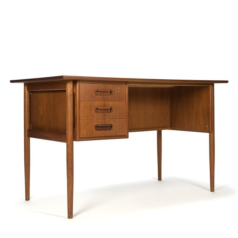 Danish vintage Tibergaard desk in teak wood