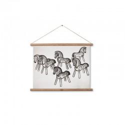 Zebra schets op canvas Kay Bojesen Gallerie
