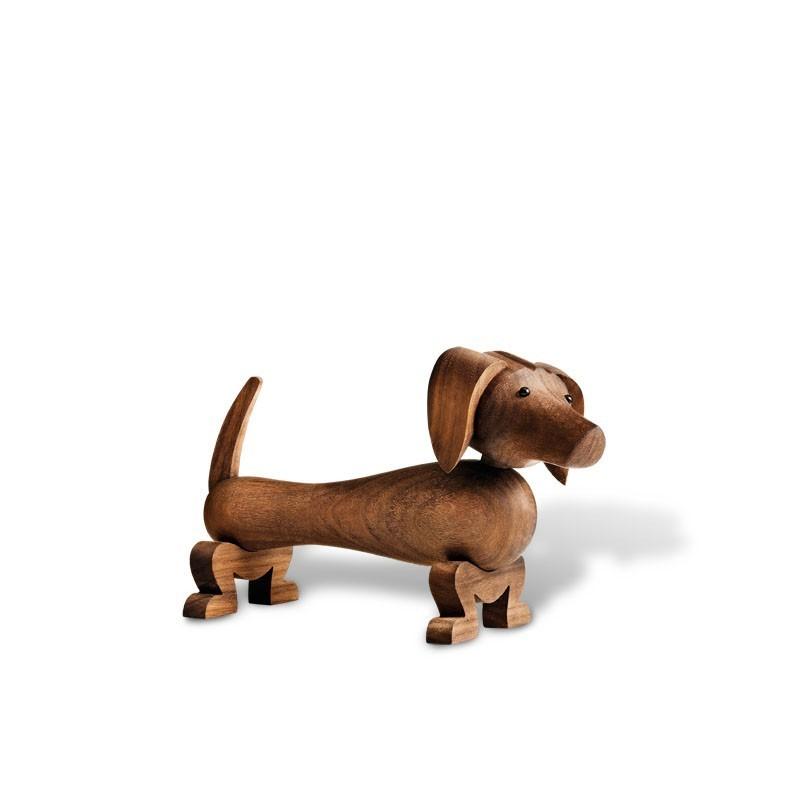 Hond design Kay Bojesen walnoot hout