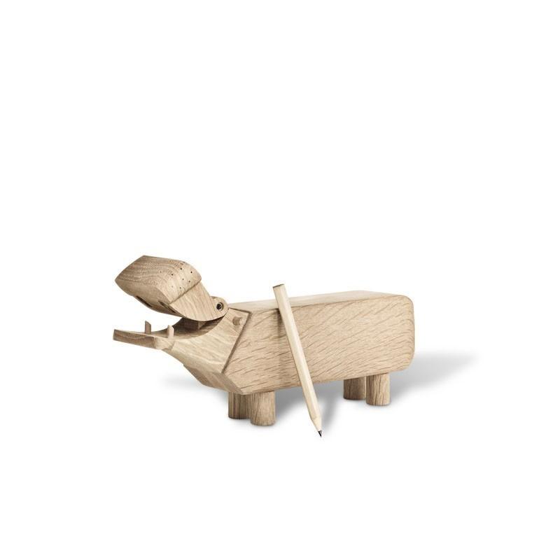 Nijlpaard design Kay Bojesen eiken