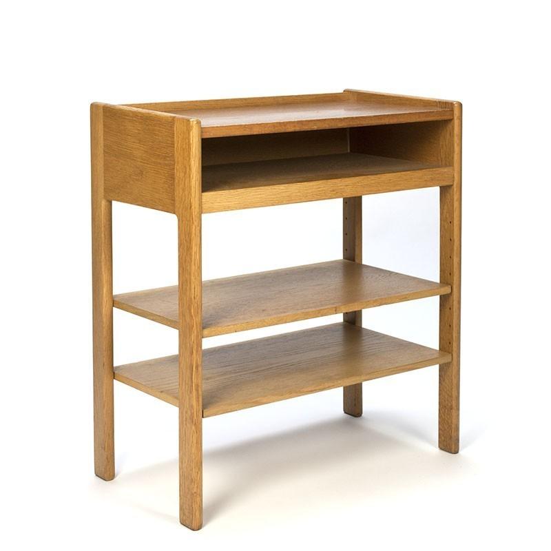 Vintage Oak Side Table Danish Design Retro Studio