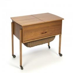 Vintage Danish sewing kit side table