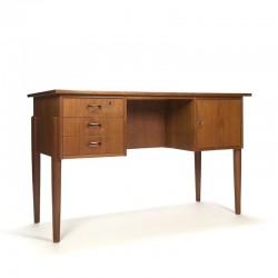 Deens vintage teakhouten bureau