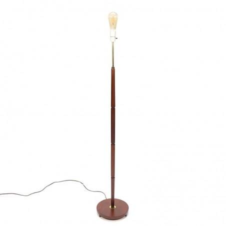 Vintage teak Danish floor lamp