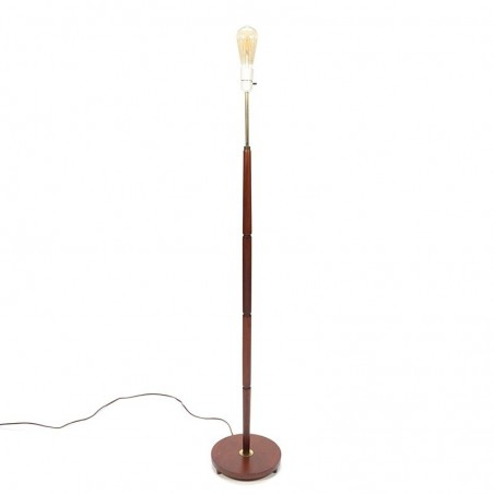 Vintage teakhouten Deense vloerlamp