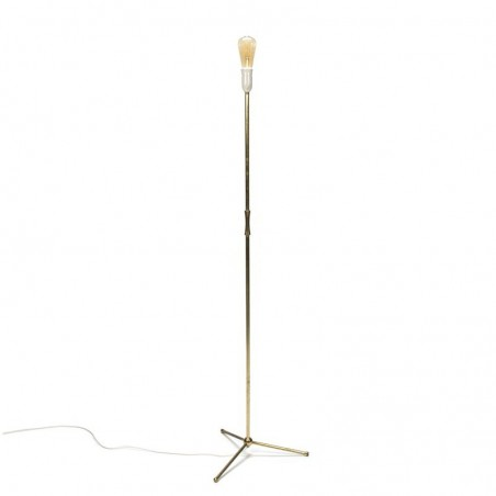 Vintage French brass floor lamp