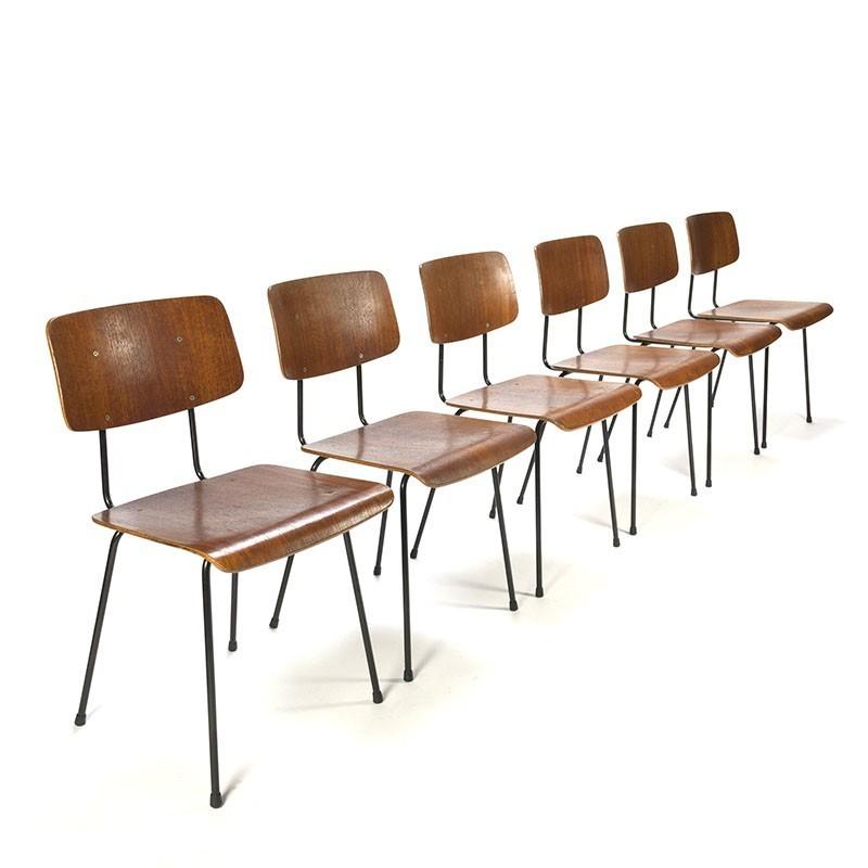 Dutch Design Stoelen Gispen.Vintage Set Model 1262 Gispen Chairs Design A R