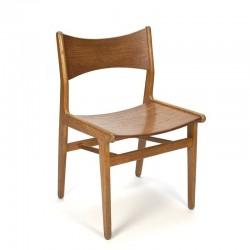 Deense vintage houten design stoel
