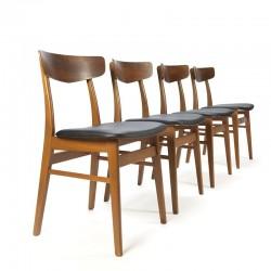 Vintage set van 4 Farstrup stoelen in teak