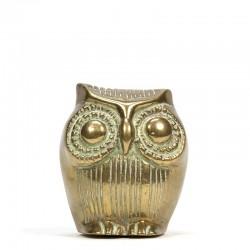 Vintage miniature brass owl