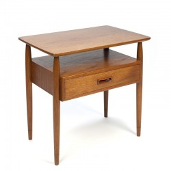 Vintage Danish side table with drawer