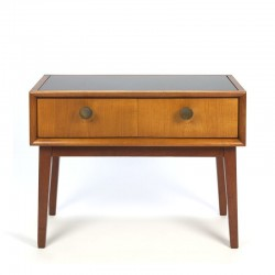 Vintage small chest of drawers with glass top