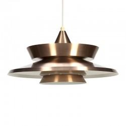 Deense vintage koperkleurige hanglamp