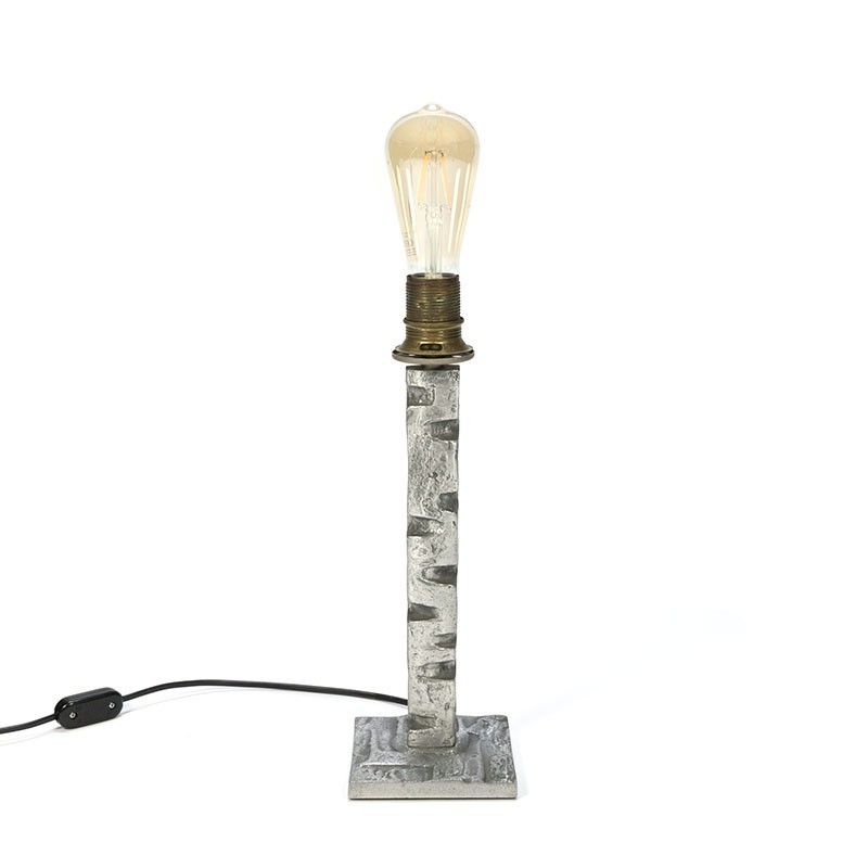 Vintage brutalistische tafellamp
