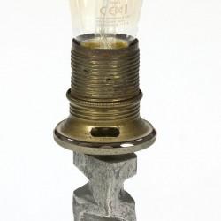 Vintage brutalist table lamp
