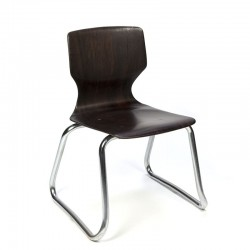Vintage small model Flototto school chair