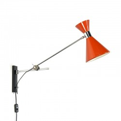 Vintage sixties diabolo wall lamp
