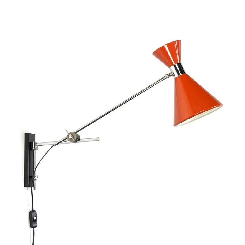 Vintage jaren zestig diabolo wandlamp
