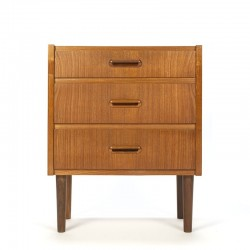Danish vintage small chest of drawers in teak