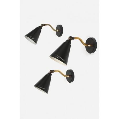 Set van 3 wandlampjes uit de jaren 50