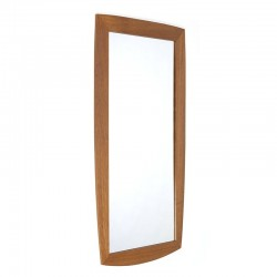 Vintage Deense spiegel met brede rand