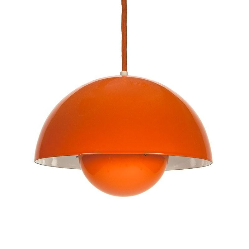 Vintage orange Flower pot design Verner Panton