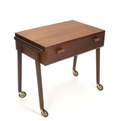 Danish vintage teak side table with drawer
